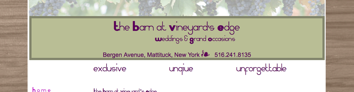 The Barn at Vineyards Edge Home Page